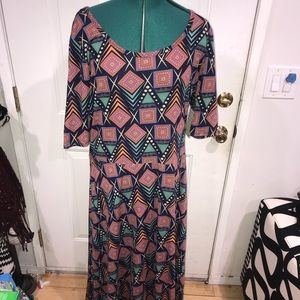 💙🧡LULAROE LONG DRESS 🧡💙